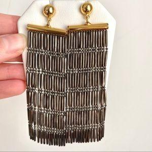 Argento Vivo NWOT 18K Gold Silver Dangly Earrings